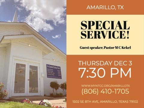NTCC Amarillo TX, Special Service, MC Kekel