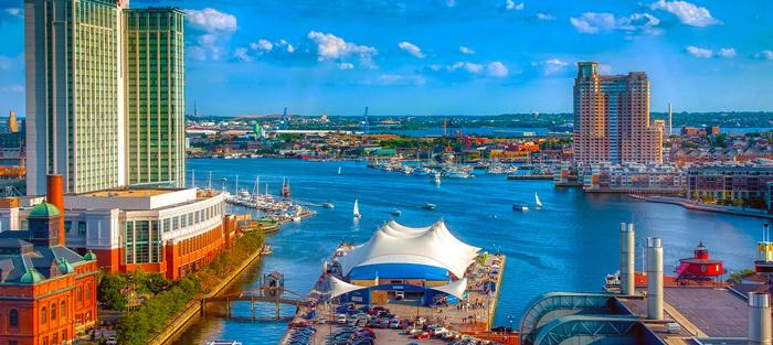 Baltimore-inner-harbor-nighttime-pano1