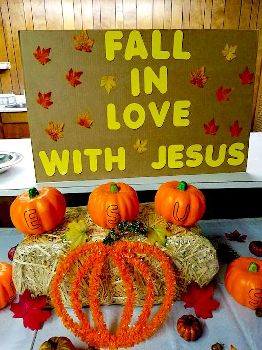 Fall in Love with Jesus Pumpkins