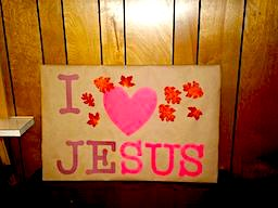 Fall in Love with Jesus Sign