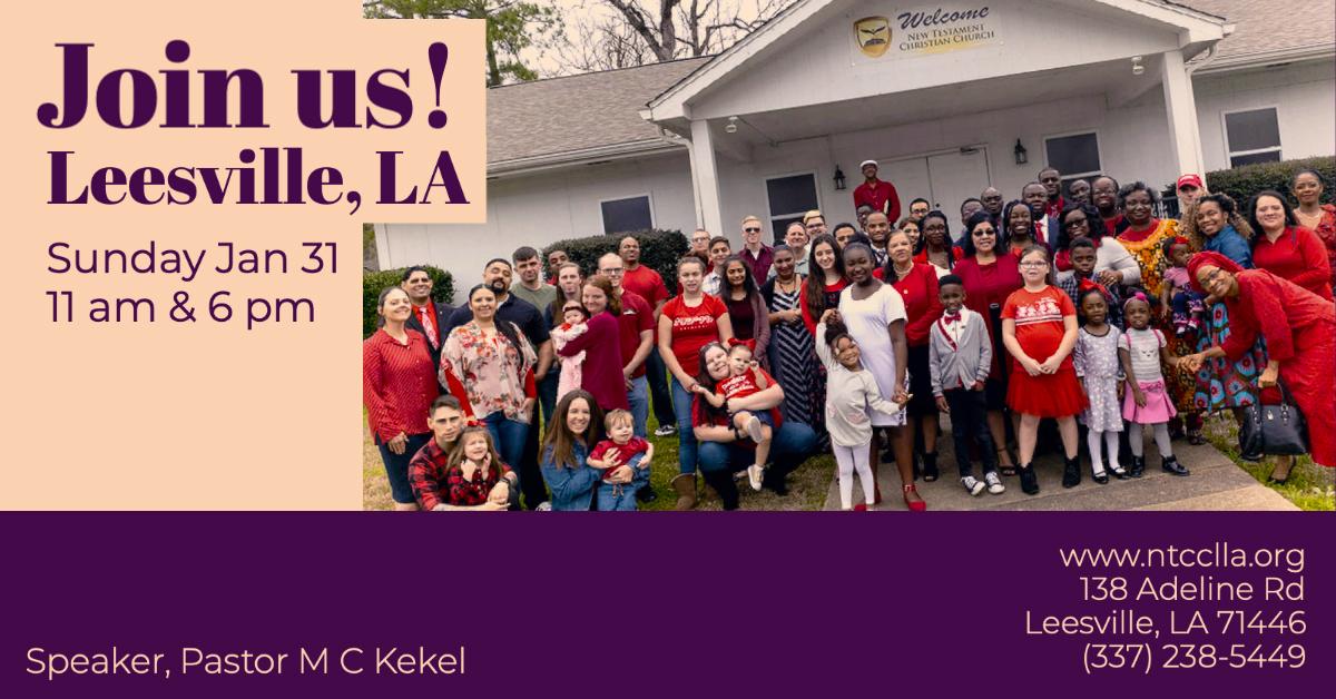Sunday, January 31st Special Guest Speaker Rev. Kekel