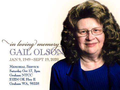 In loving memory of Sis Olson