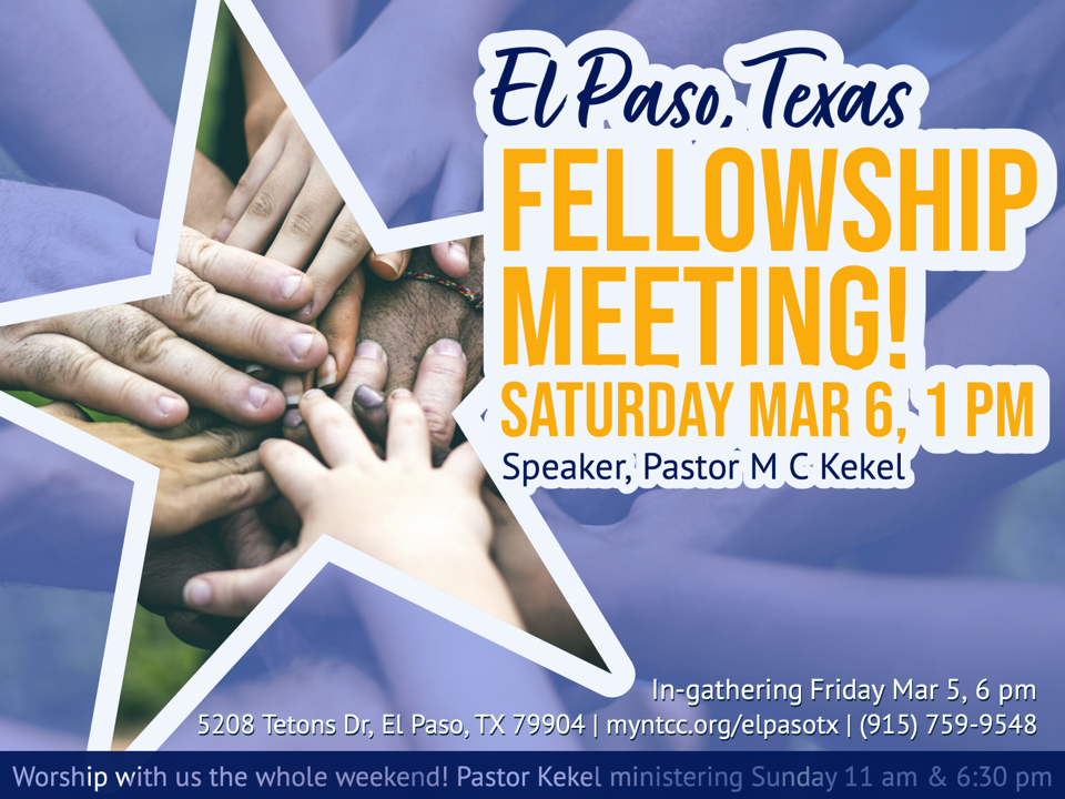 NTCC El Paso TX Fellowship Meeting, MC Kekel