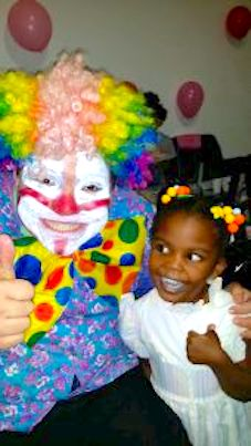 Clown and Little Girl