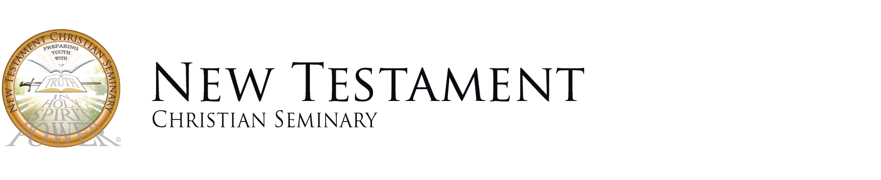 New Testament Christian Seminary Official logo and text